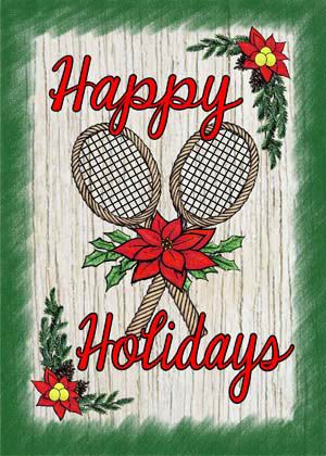 Tennis Holiday Flag