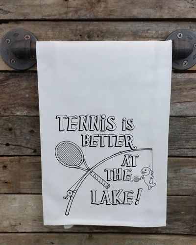Lake Tennis Kitchen Towel