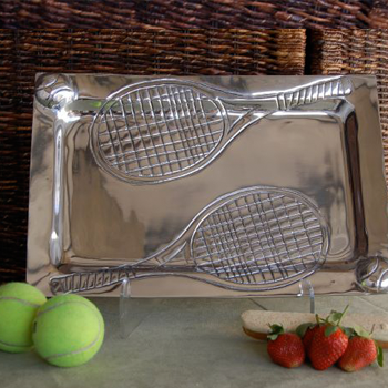 Pewter Tennis Tray