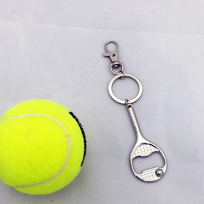 Racquet Key Chain and Bottle Opener