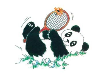 Note cards - Tennis Panda
