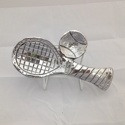 Pewter Racquet Spoon Rest