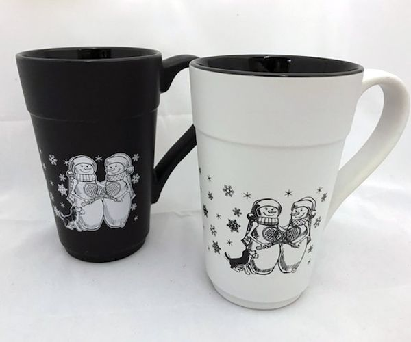 Tennis Snowmen Holiday Mug