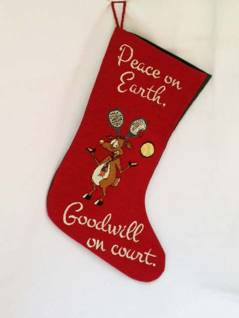 Peace on Court Stocking