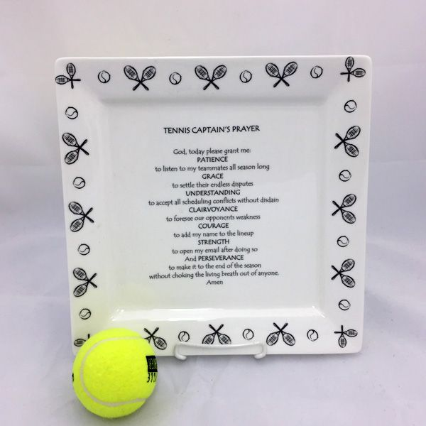 Tennis Captain's Prayer Plate