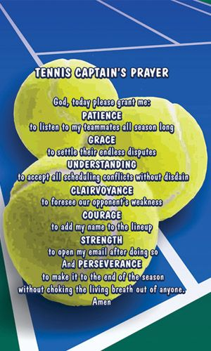 Tennis Captain's Prayer - Towel