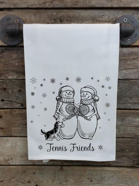 Tennis Friends Kitchen Towel