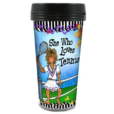 Suzy Toronto's Tennis Travel Mug