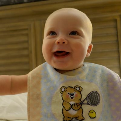 Baby Bear Tennis Bib