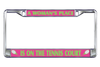 Tennis License Plate Frames- A Woman's Place is on the Tennis Court