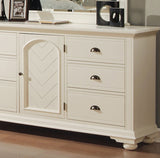 CA Munro Brooks (White) 6PC King Bedroom