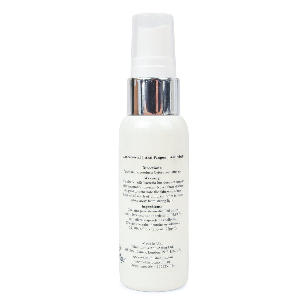 Detergente per attrezzi per la bellezza naturale - Spray antibatterico argento colloidale 50mL