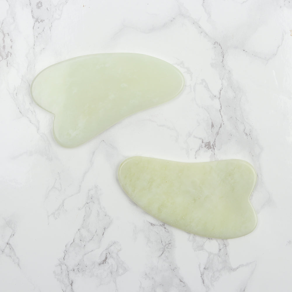 Jade Gua Sha - Natural Chemical Free Crystal in a Signature Silk Lined Box
