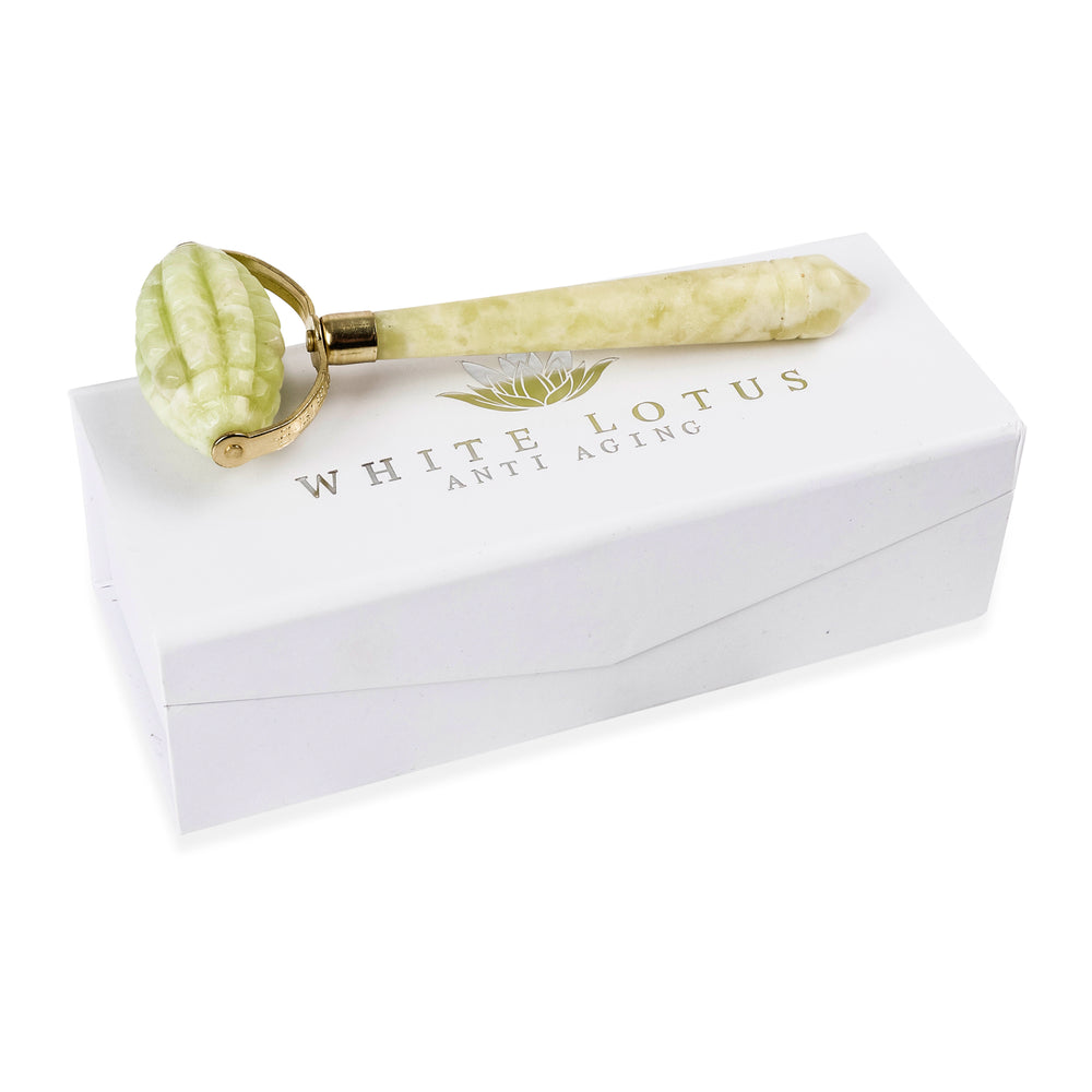 Intensive Jade Roller - Natural Chemical Free Crystal in a Signature Silk Lined Box