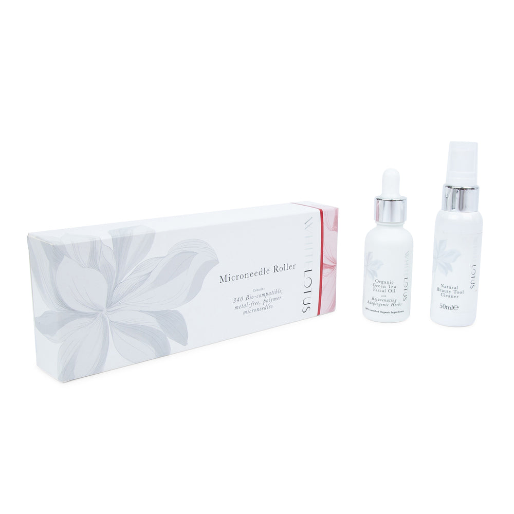 Hypoallergenic Dermaroller Kit - for Wrinkles & Anti Aging