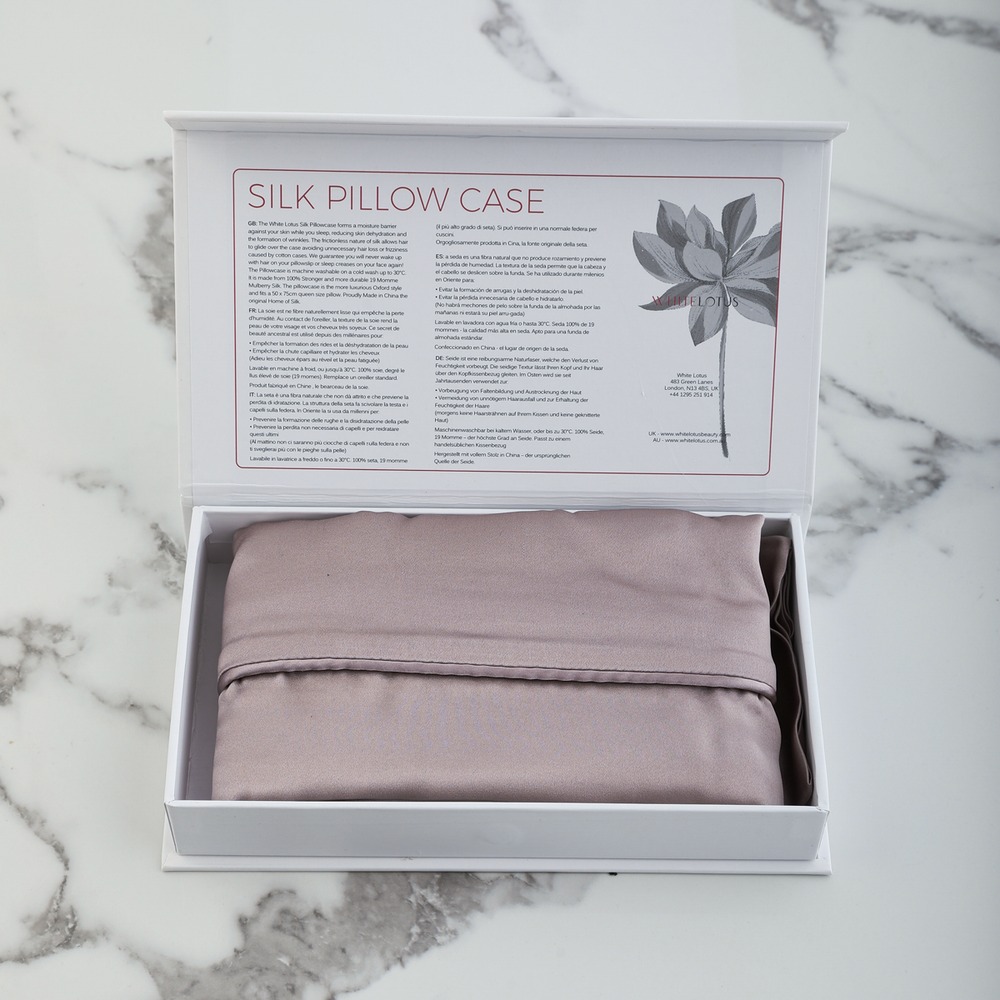 19 Momme Pure Silk Pillowcase  - Reduces Wrinkles and Hair Loss