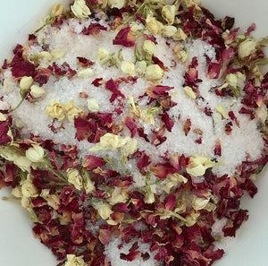Set of 4 Rose and Jasmine Bath Teas