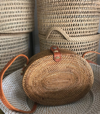 oval, handwoven, straw bag, straw bags, rattan bag, straw beach bag