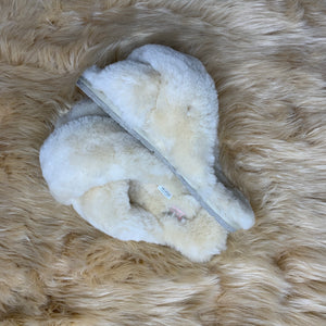 Light Beige Criss Cross Slippers