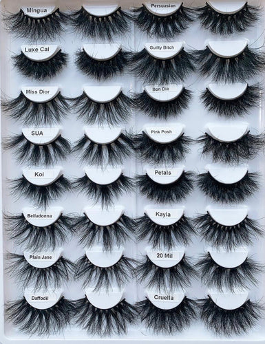 16pc 20mm-27mm Lashes