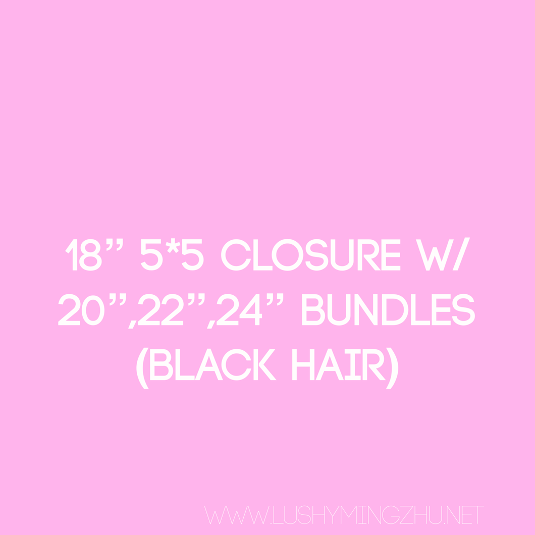 Persuasian's Bundle Deal w/ 5*5 closure (Straight)