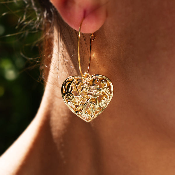 Flowers of Heart Earrings