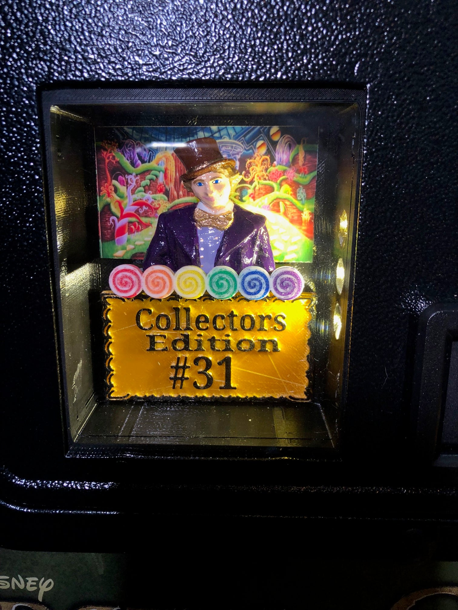 JJP Willy Wonka custom Illuminated Coin Door 3D Shadow box LE or CE