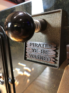 "JJP Pirates of the Caribbean ""Pirates Be Warned"" custom shooter plate sign!"