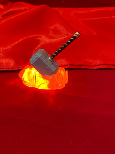 "Avengers Custom Illuminated ""Thor Rock Crusher"" hammer Mod!"