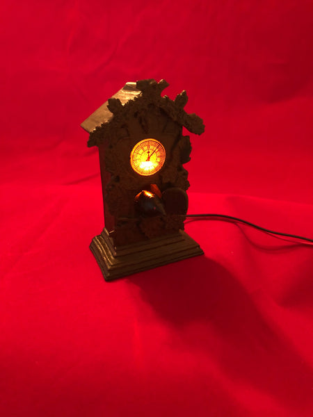 "The Munsters ""Raven Clock"" custom illuminated Mod!"