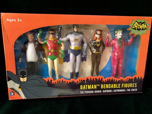NIB Batman 66 Classic TV Series Bendable Figures, or Toppers gone Wild!!!