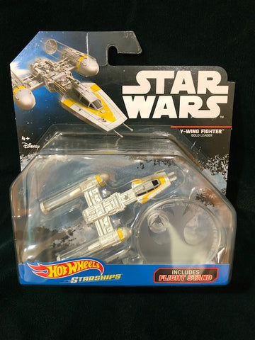 Star Wars Y-Wing Fighter.   Hot Wheels NIB