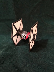 Star Wars Tie Fighter open box.   Hot Wheels