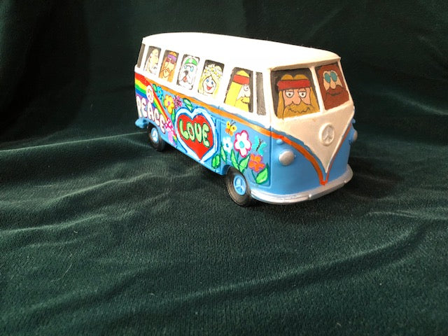 Junk Yard Pinball Custom painted Hippy Bus! Groovy Man!