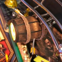 Hobbit Pinball New Custom Barrel Spot Lights Mod upgrade kit.