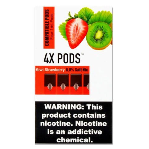 4X Kiwi Strawberry 4 Pods Juul Compatible