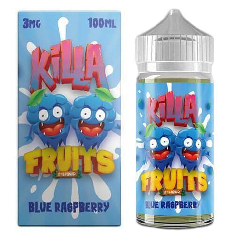 Blue Raspberry - Killa Fruits E Liquid 100ml eJuice MrVapes Australia