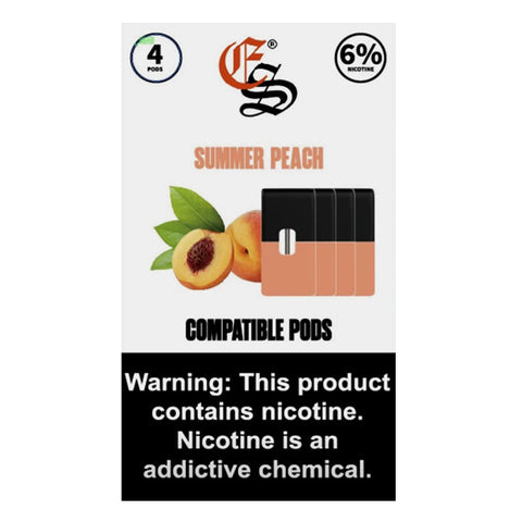SUMMER PEACH EONSMOKE PODS 4 Pack