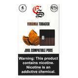 VIRGINIA TABACCO EONSMOKE PODS 4 Pack juul pods