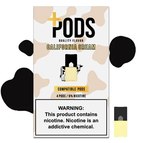 California Cream - Plus Pods 4 Pack ePods Mrvapes Australia 1