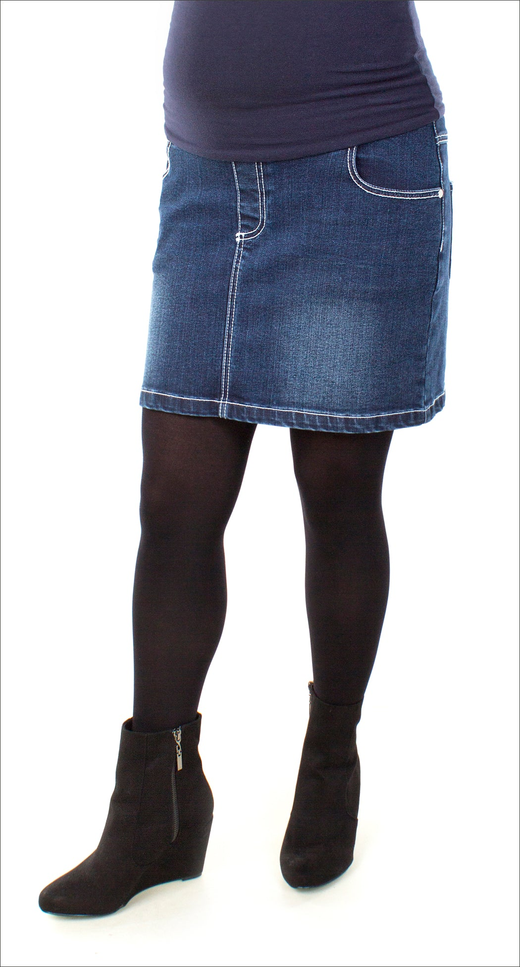 b5d1896e6af9a Dark Wash Jean Skirt – Nest and Sprout Maternity