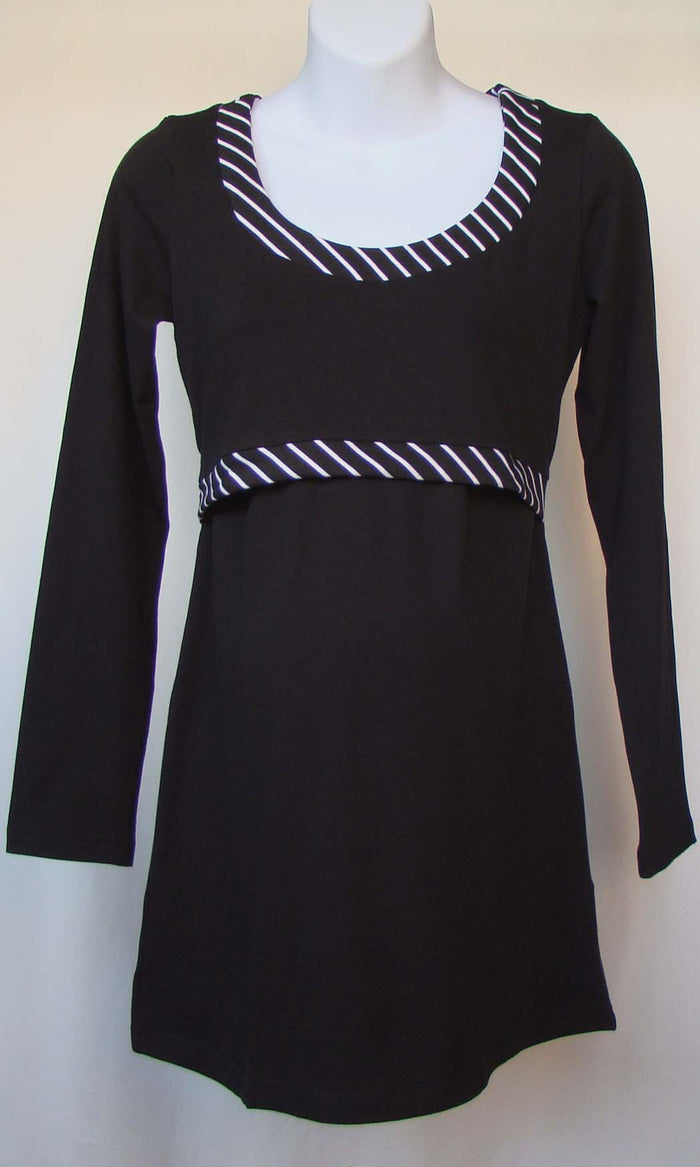 Bedondine Nursing & Maternity Striped Long Sleeve Top (Only XL & XXL left!)