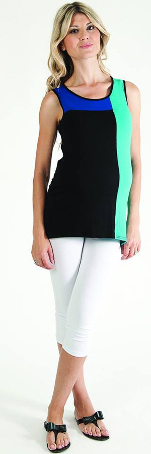 Bellyssima Colour Block Tank Top