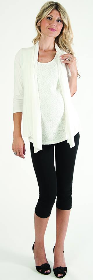 Bellyssima Soft White Cardigan