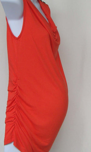 Bellyssima Tank with Shoulder Button Detail (Orange or White)