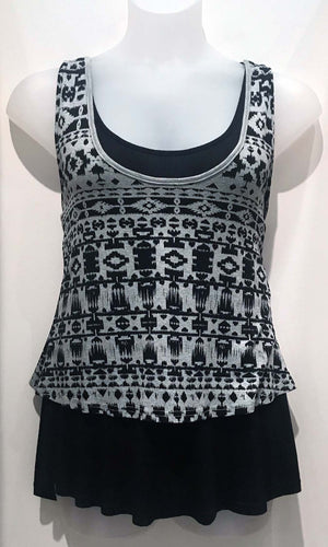 Geometric Layered Nursing Tank - LAST ONE in X-LARGE