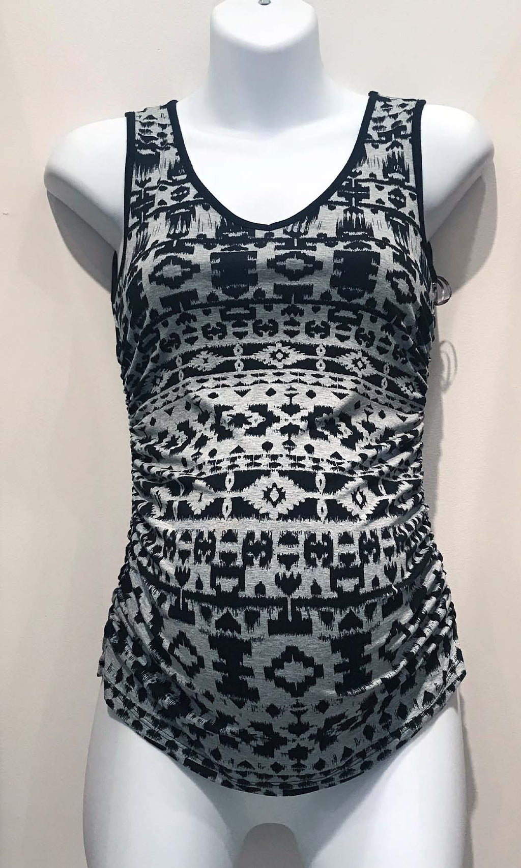 Geometric Tank Black/Grey - ONE LEFT in X-SMALL