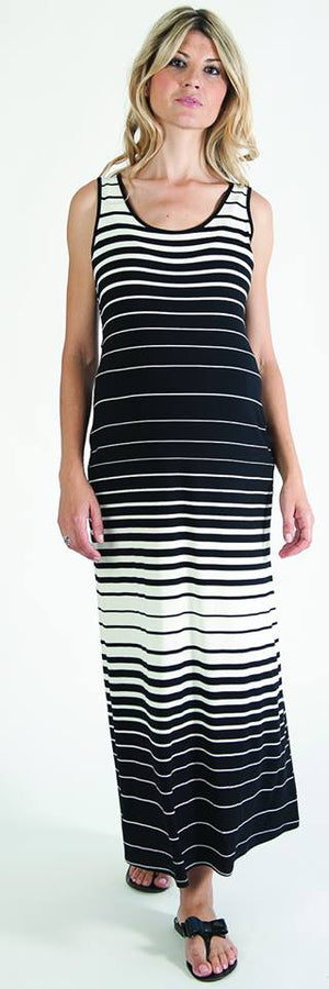 Bellyssima Stripe Maxi Dress