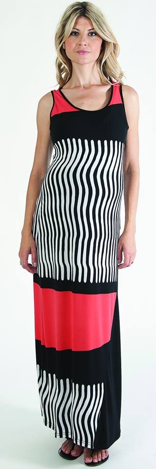 Bellyssima Abstract Maxi Dress
