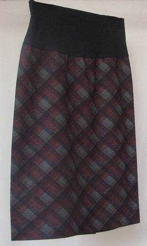 Bellyssima Plaid Skirt with Belly Panel